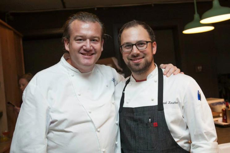 Chef David Kirschner with Chef Michael White